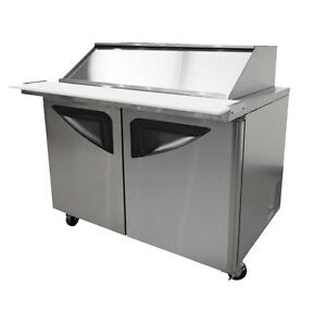 24 Pan 19 Cuft Mega Top Refrigerated Sliding Lid Prep Table
