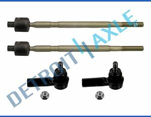 All 4 New Inner Outer Tie Rod Ends For 2007 2013 Suzuki Sx4