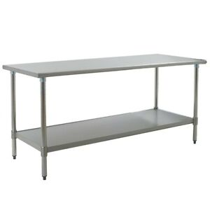 Eagle Group T3072seb 1x Deluxe Work Table 72in X 30in Stainless Steel Work Top