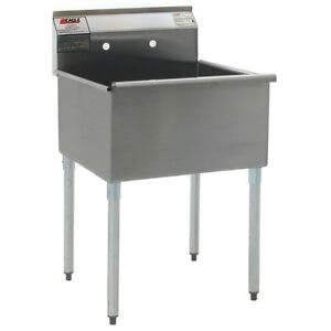 Eagle Group Stainless Steel Utility Sink 1 18in X 18in Compartment
