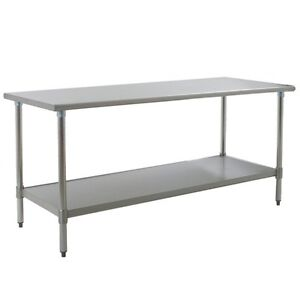 Eagle Group T2472seb 1x Deluxe Work Table 72in X 24in Stainless Steel Work Top