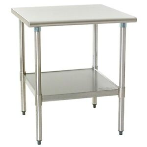 Eagle Group T2436seb Deluxe Work Table 36in X 24in Stainless Steel Work Top