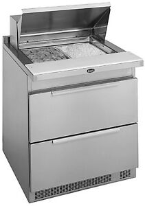 Randell 9412 32d 7 32 Single Door Sandwich Salad Prep Cooler W Drawers