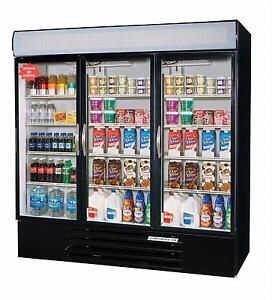 Beverage air 72 Cuft Marketmax Three door Reach in Cooler W Led Lighting