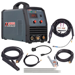 Tig 225 220 Amp High Frequency Tig Torch Stick Arc Dc Welder 115 230v Welding