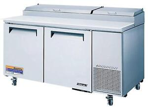 Turbo Air 67in S s Sandwich Pizza Prep Cooler Tpr 67sd