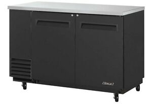 Turbo 59 Back Bar Cooler 19 Cu ft Black Vinyl Exterior Tbb 2sb