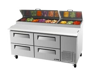 Turbo Air 67 Pizza Prep Table Cooler 9 Pans 4 Drawers Tpr 67sd d4