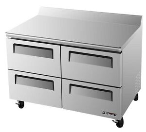 Turbo Air 49 Commercial Worktop Cooler 4 Cooler Drawer Twr 48sd d4