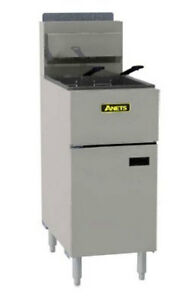 Anets Slg50 Silverline 50lb Gas Fryer Stainless Commercial 120000 Btu