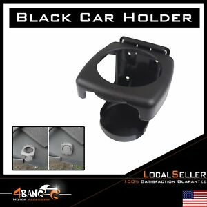 Pair Plastic Folding Black Drink Holders Boat Marine Caravan Car Cup Holder