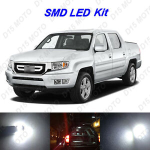 17x White Led Interior Bulbs License Plate Light For 2006 2013 Honda Ridgeline