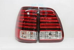 Red White Led Taillights Rear Lamps Fit For Lexus Lx470 2003 2007