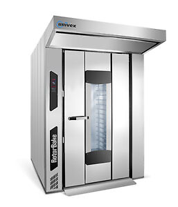 Univex Rdre11 Electric Double Rack Rotating Bakery Oven 18 Levels