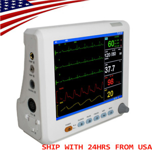 Icu Portable Vital Sign Patient Monitor 6 parameter Ecg Nibp Resp Temp Spo2 Pr
