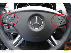Mercedes Benz Gl 320 Steering Wheel Black Button Repair Decal Stickers