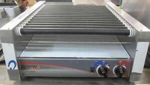 Apw Xpert Series Hot Dog Roller Hrs 45 Commercial Warmer Counter Top Grill 240v