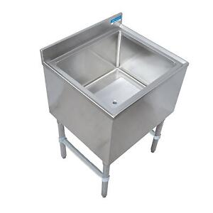 Bk Resources 24 w Stainless Steel Underbar Insulated Ice Bin W cold Plate