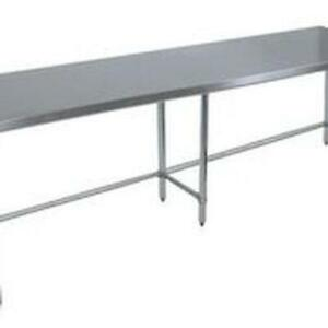 Bk Resources Vttob 9630 96 wx30 d Economy Stainless Steel Open Base Work Table