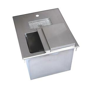 Bk Resources 18 w Stainless Steel Drop in Ice Bin With Water Station
