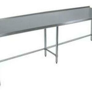 Bk Resources Vttrob 9630 96 wx30 d Economy Stainless Steel Open Base Work Table