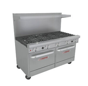 Southbend 4601dd Ultimate 60 Gas 10 burner Restaurant Range 2 Std Ovens