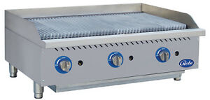 Globe Gcb36g cr 36 Counter top Natural Gas Charbroiler Cast Iron Radiant