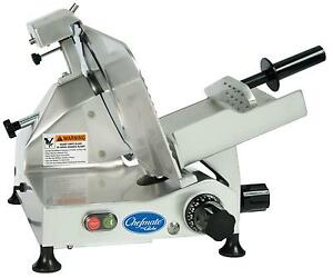 Globe C12 12 Chefmate Manual Electric Food Slicer Light Duty 33 Hp