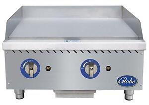 Globe Gg24g 24 Counter top Natural Gas Griddle With Manual Control