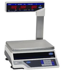 Globe Gs30t 30lb Capacity Price Computing Scale With Display Tower
