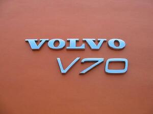 01 07 Volvo V70 Xc V70xc Xcv70 Rear Lid Chrome Emblem Logo Badge Sign Oem Set 2