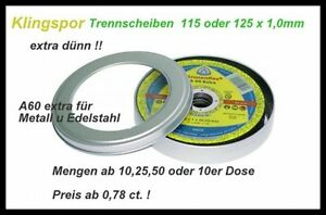Klingspor A60 Extra Thin 4 17 32x0 1 32in Cutting Disc Inox Steel From 0 78