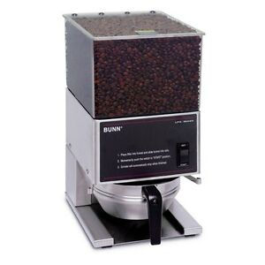 Bunn 20580 0001 6lb Coffee Grinder Low Profile Portion Control
