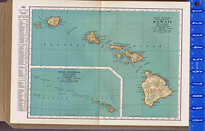 Hawaii State Map 1932 Map Bonus Hawaiian Islands Scenes