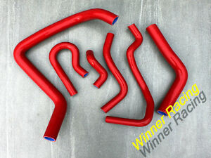 Fit Honda Civic Usdm Si Can Sir B16a2 Em1 1999 2000 Silicone Radiator Hose Red