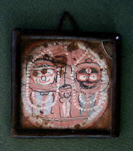Antique Indian Miniature Votive Painting Hindu