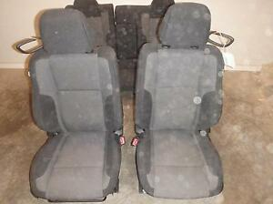 2015 Dodge Challenger Black Grey Cloth Seats Console Driver Passenger Rear
