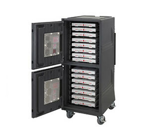 Cambro Cmbphhd Combo Cart Plus Electric Heated Cabinet Insulated 6 Casters