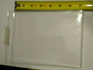 Plexi Vertical Card Holder 7 h X 5 1 2 w Slatwall Retail Display Lot Of 48 used