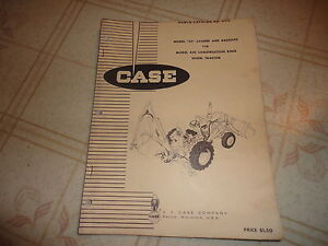 Case 23 Loader Backhoe For 430 Construction King Parts Catalog Manual