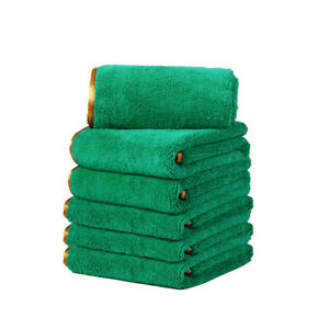 4 Microfiber Towels Elite Deluxe Car Wash Polish House Cleaning Cloths 16 x24