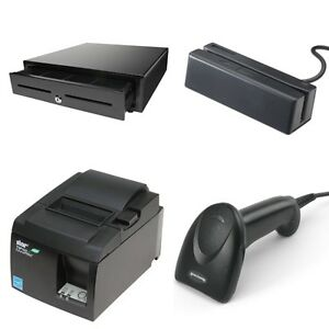 Quickbooks Pos Hardware Bundle cash Drawer Receipt Printer Card Swipe Scanner