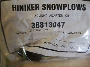 Hiniker Snow Plow Light Adapter Kit 38813047