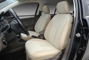 Car Seat Covers 2 Front Semi Custom Fabric Compatible To Bmw 861 Tan