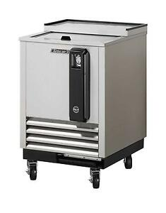 24 Bottle Cooler Stainless Exterior With 1 Sliding Door Tbc 24sd