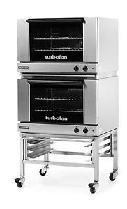 Moffat E27m2 2 Electric Dble Convection Oven Full Size 2 Pan W Fixed Stand