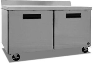 Hoshizaki Crmr60 w 17 55cuft Two Door Reach in Worktop Refrigerated Counter