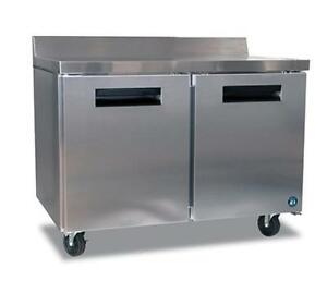 Hoshizaki Crmr48 w 13 66cuft Two Door Worktop Reach in Refrigerated Counter