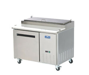 Arctic Air App48r 48 Stainless Steel Pizza Prep Table Cooler