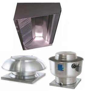 Superior Hoods S5hp 5ft Restaurant Hood System W Make up Air Exhaust Fans